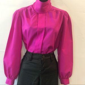 Zara inspired Vintage Jewel Tone puff sleeve top
